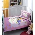 Lenjerie de pat pentru bebelusi din bumbac organic Tac Animals v03 mov