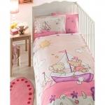 Lenjerie de pat pentru bebelusi din bumbac organic Tac Maritime V6
