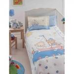 Lenjerie de pat pentru bebelusi din bumbac organic Tac Maritime v1
