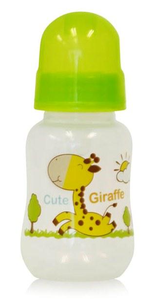 Biberon cu desene 125 ml Green Giraffe