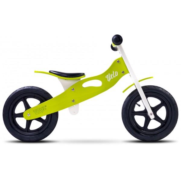 Bicicleta de lemn fara pedale Toyz Velo Green