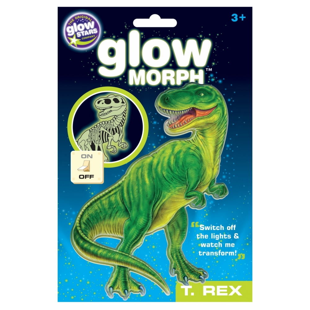 Dinozaur T-rex fosforescent transformabil The Original Glowstars Company B8700