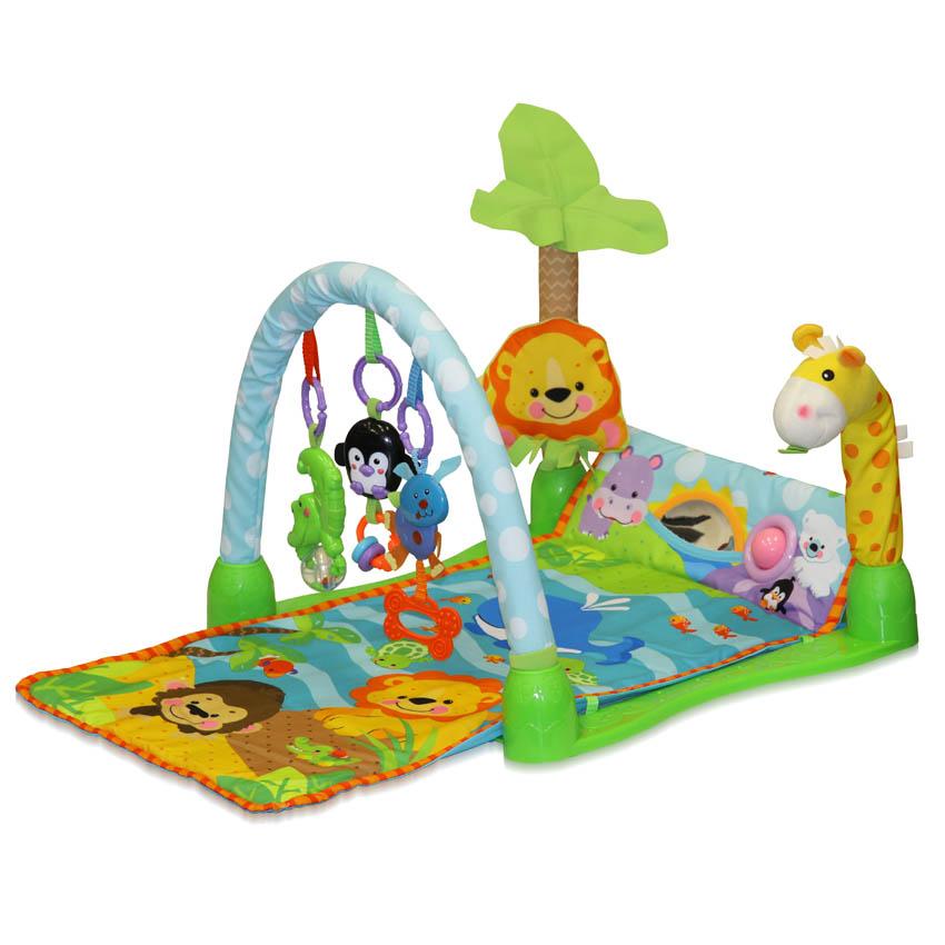 Spatiu de joaca cu jucarii muzicale Gym Giraffe 100 x 44 cm