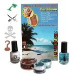 Set tatuaje temporare germane (glitter tattoos) CARIBBEAN Eulenspiegel ST730539EULGT