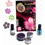 Set tatuaje temporare germane (glitter tattoos) Magical Flowers Eulenspiegel ST730560EULGT