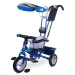 Tricicleta Toyz cu maner si roti gonflabile Derby Albastra