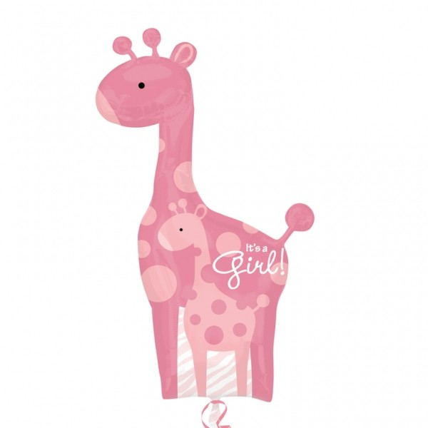 Balon folie figurina Girafa Its a Girl