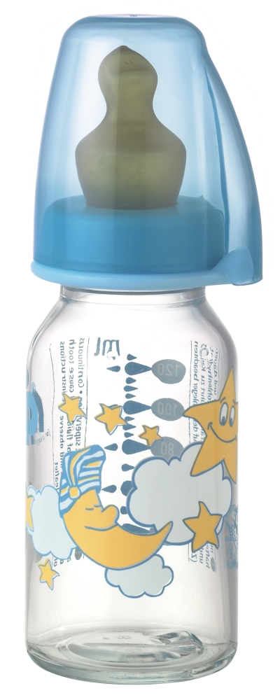 Biberon Sticla 125 Ml Cu Tetina Latex Pt Ceai Nr 1
