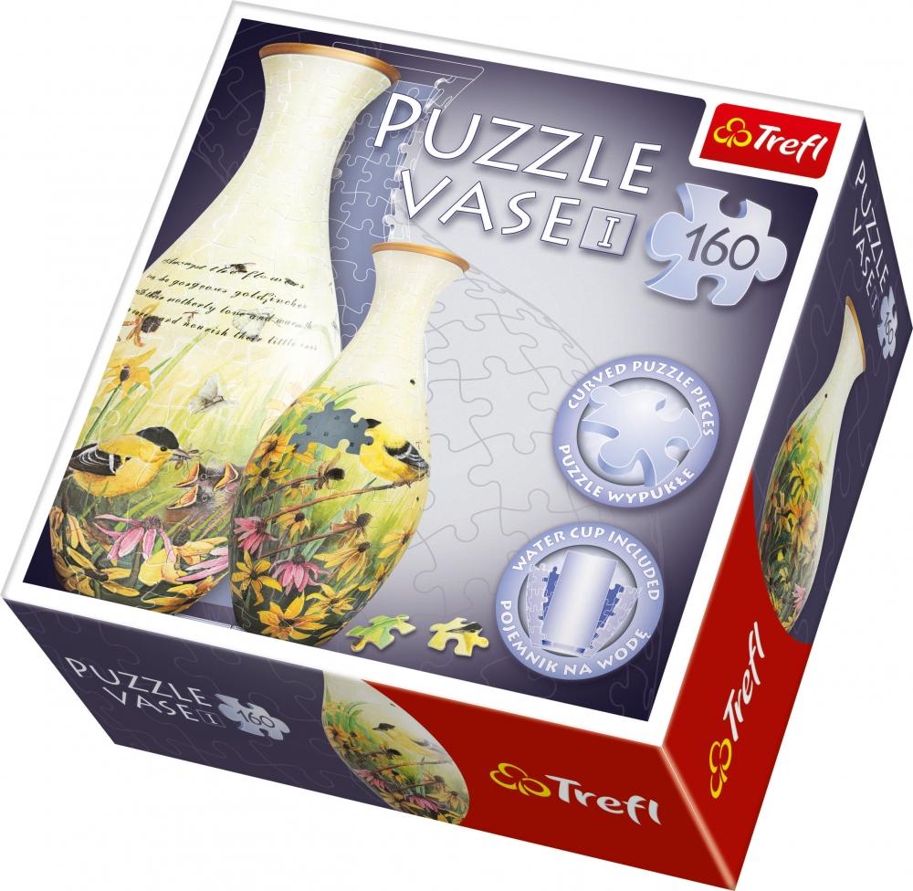 Puzzle 3D Spatial 160 piese Vaza pentru flori