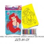 Plansa pictura nisip M Ariel cu parul lung bust