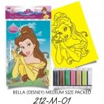 Plansa pictura nisip M Belle cu mainile ridicate