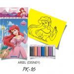 Plansa pictura nisip S Ariel  Disney