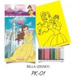 Plansa pictura nisip S Belle  cu Floare