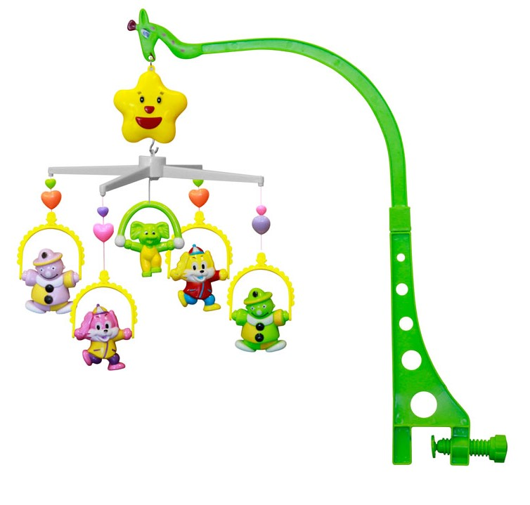 Carusel muzical pat - figurine plastic 36 cm Clowns