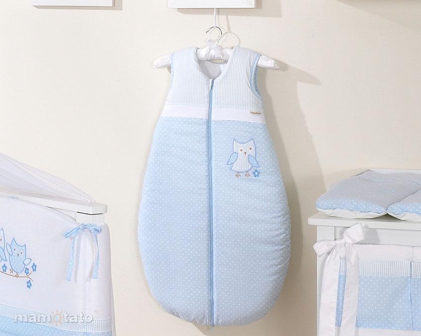 Sac de dormit Cute Bird Blue 84 cm