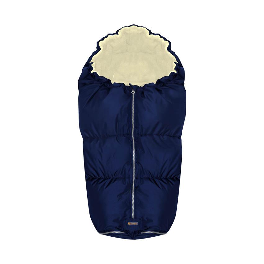 Sac termic de iarna pentru carucior blue