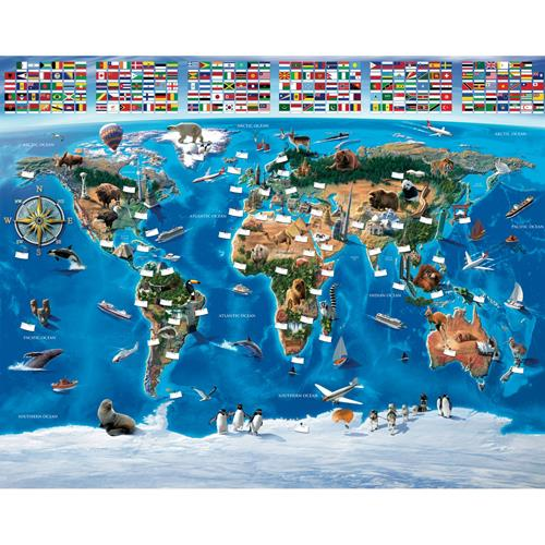 Tapet Pentru Copii Harta Lumii