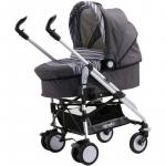 Carucior M7 sistem 3 in 1 Carello Stripe Grey