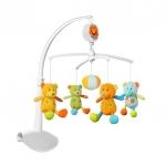 Carusel muzical Baby Ono cu prindere universala Ursuleti