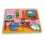 Puzzle AndreuToys din lemn Animale