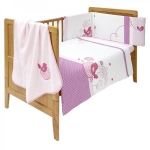 Set lenjerie pat - 4 piese Candy Blossom