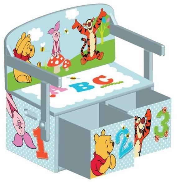 Mobilier 2 in 1 pentru depozitare jucarii Disney Winnie The Pooh