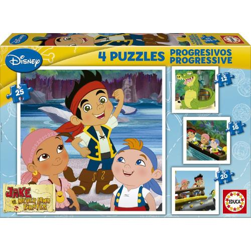 Puzzle Progresiv Jake and the Neverland Pirates