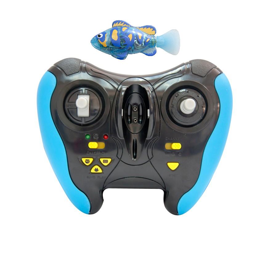 Robo Fish Albastru Cu Telecomanda