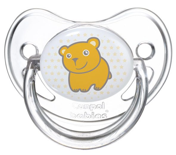 Suzeta rotunda din silicon Transparenta 18+