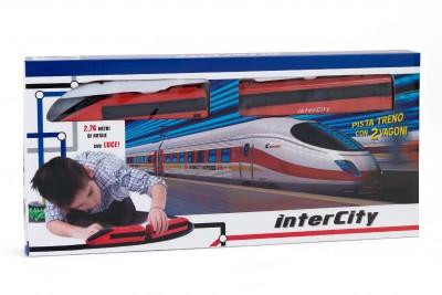 Trenulet electric cu 2 vagoane si baterii