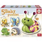 Puzzle Bebe cu Animale