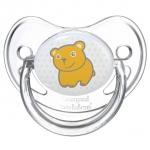 Suzeta rotunda din silicon Transparenta 6-18 luni
