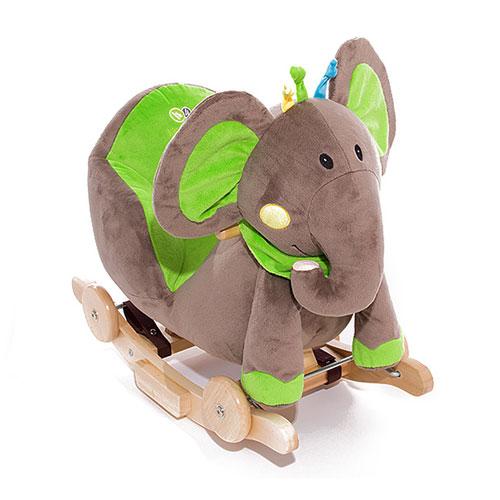 Balansoar Cu Roti 2 In 1 Elephant Green Cu Sunete
