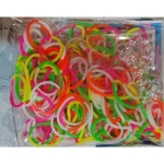 Elastice Rainbow Loom - Neon - Mix Duo - 300 buc.