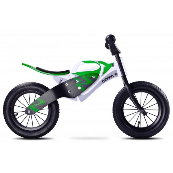 Bicicleta de lemn fara pedale Enduro Green