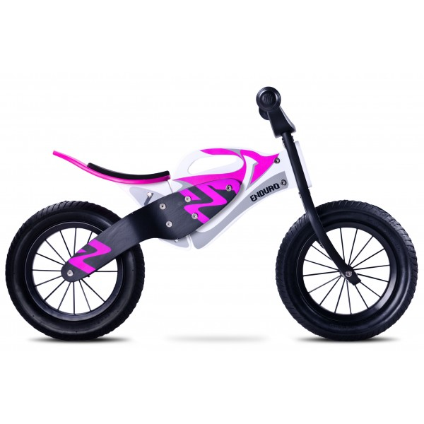 Bicicleta de lemn fara pedale Enduro Purple