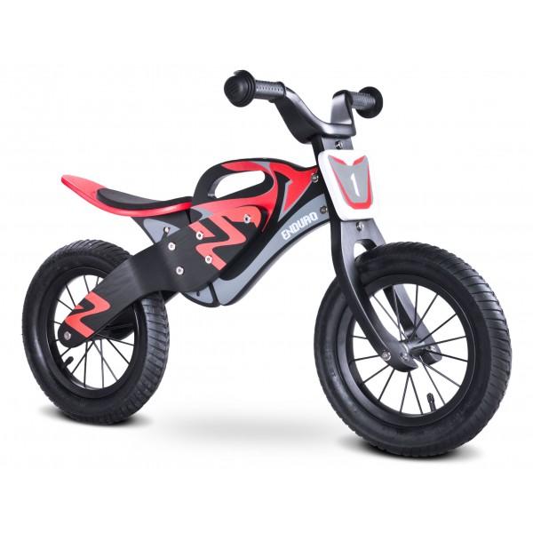 Bicicleta De Lemn Fara Pedale Enduro Red