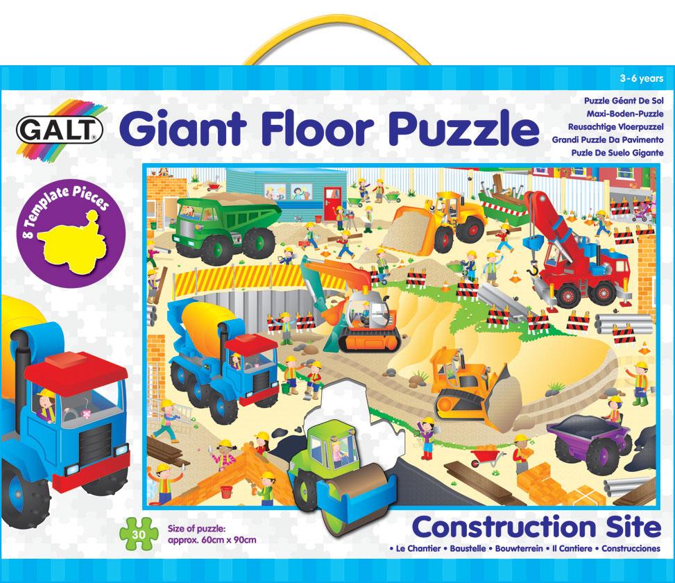 Puzzle Construction Site Giant Floor Puz
