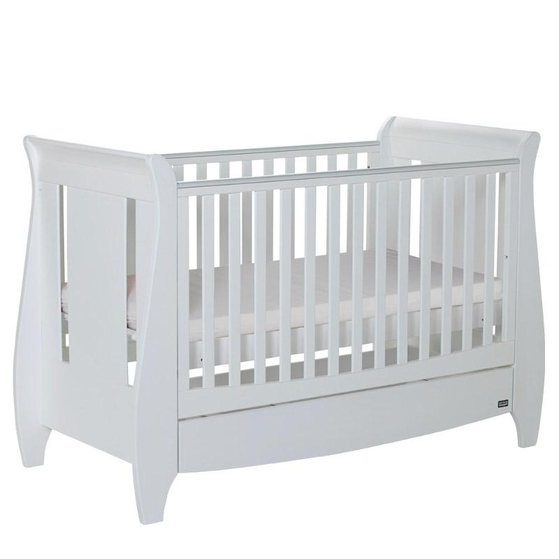 Set patut + salteluta pentru bebelusi Lucas White Tutti Bambini