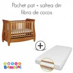 Set patut + salteluta pentru bebelusi Lucas Oak
