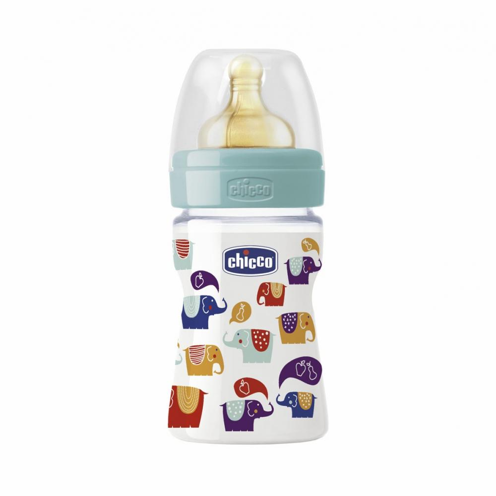 Biberon Chicco Well Being PP, ironic, 150ml,T.c., flux normal, 0+, 0BPA