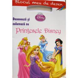 Carte Deseneaza si Coloreaza cu Printesele Disney