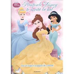 Carte de Colorat - Printesele Disney Te Invita la Bal