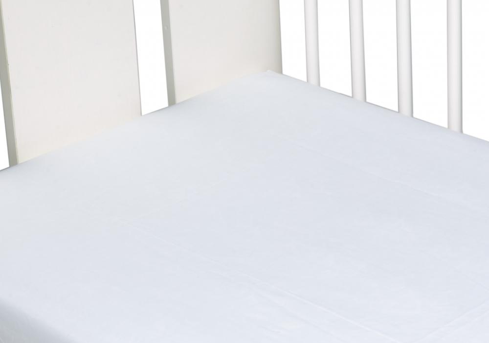 Cearceaf din bumbac cu elastic 120x60 cm Alb