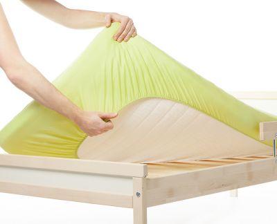 Cearceaf din bumbac cu elastic 120x60 cm Verde deschis