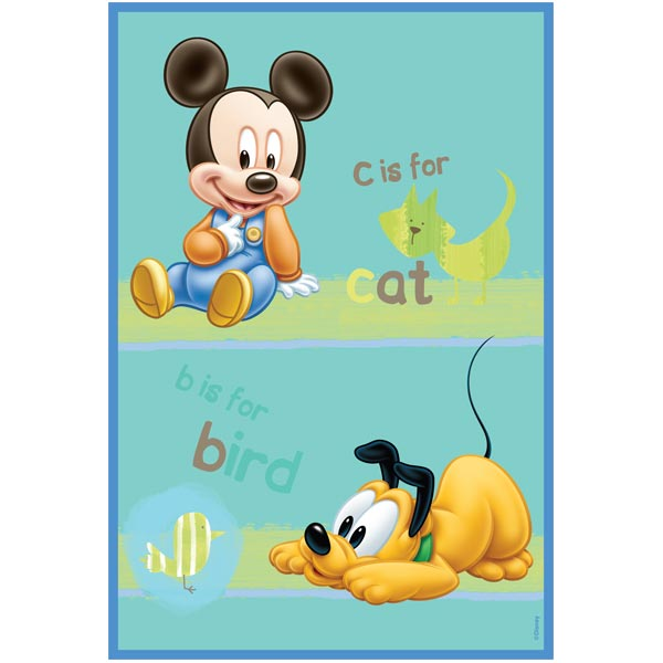 Covor copii Babies Mickey si Pluto model 308 140x200 cm Disney
