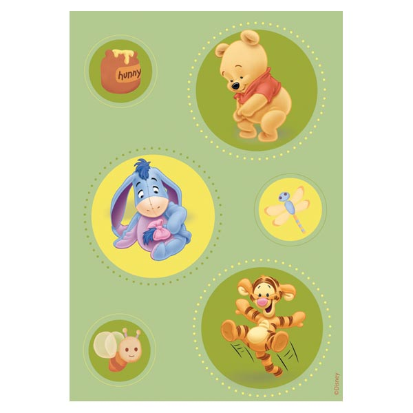 Covor copii Green Pooh model 403 160x230 cm Disney imagine