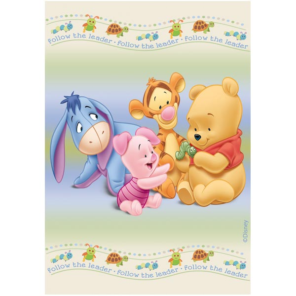 Covor copii Play Pooh model 403 160x230 cm Disney imagine