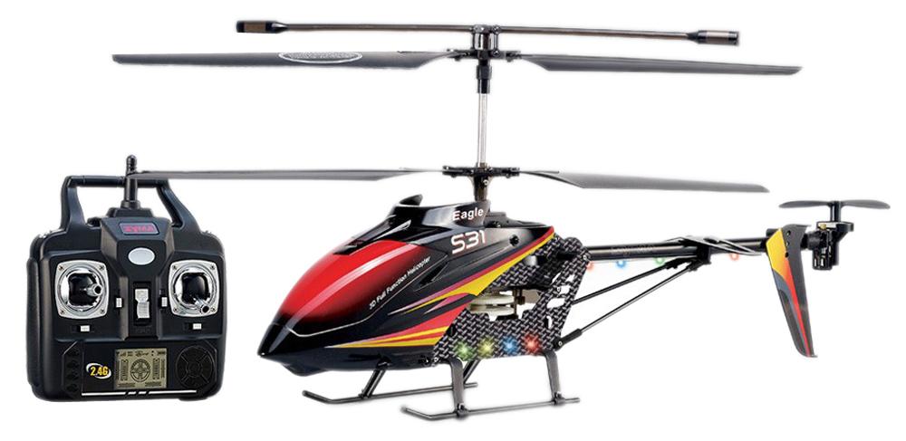 Elicopter de exterior cu radiocomanda 2,4Ghz, 3 canale, Syma S31 Metal Eagle
