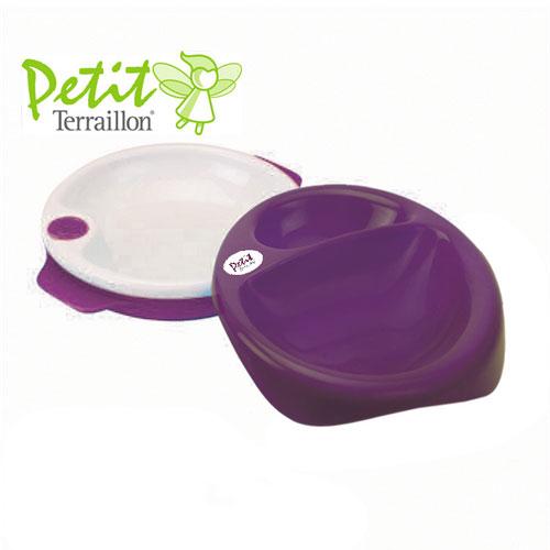 Farfurie termica 2 in 1 si set tacamuri Purple